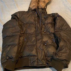 Girls gap black coat size 14-16